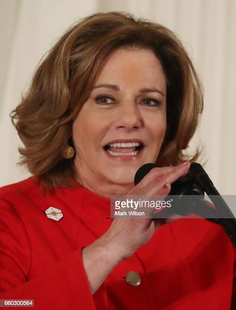 Deputy National Security Advisor KT McFarland speaks during during an event celebrating Women's History Month in the East Room at the White House...