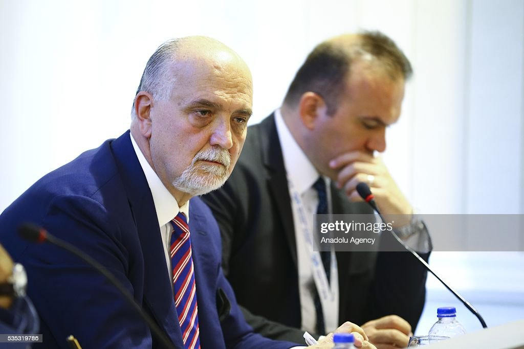 Deputy Permanent Representative of Italy to the United Nations, Ambassador Inigo Lambertini attends a session during the Midterm Review of the Istanbul Programme of Action for the Least Developed Countries in Antalya, Turkey on May 29, 2016.