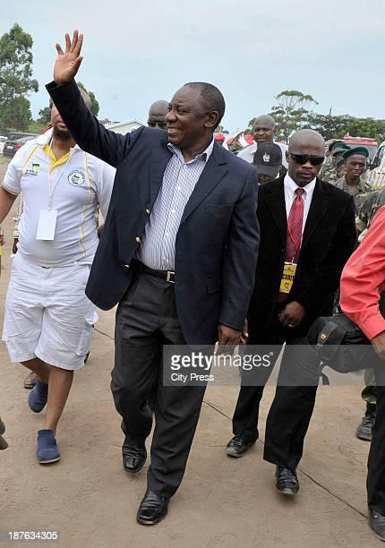 ANC Deputy President Cyril Ramaphosa on January 10 2013 in Pietermaritzburg South Africa