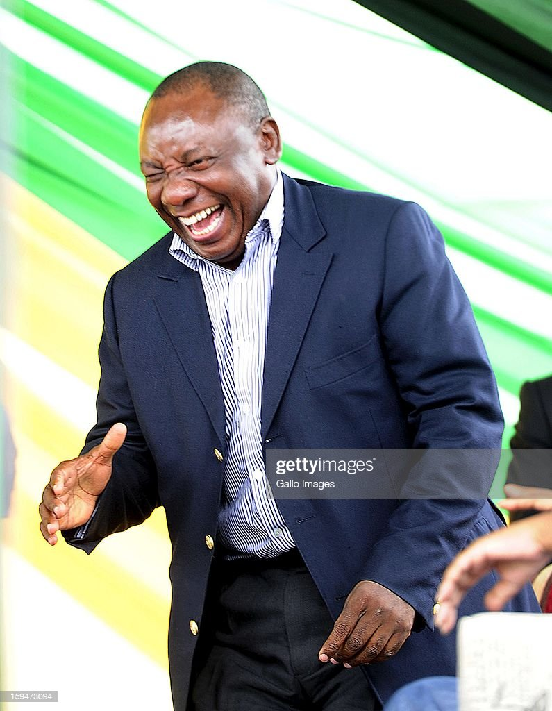 Deputy President Cyril Ramaphosa on January 10, 2013, in Pietermaritzburg, South Africa. The ANC rally marked the party's 101 year of existence.