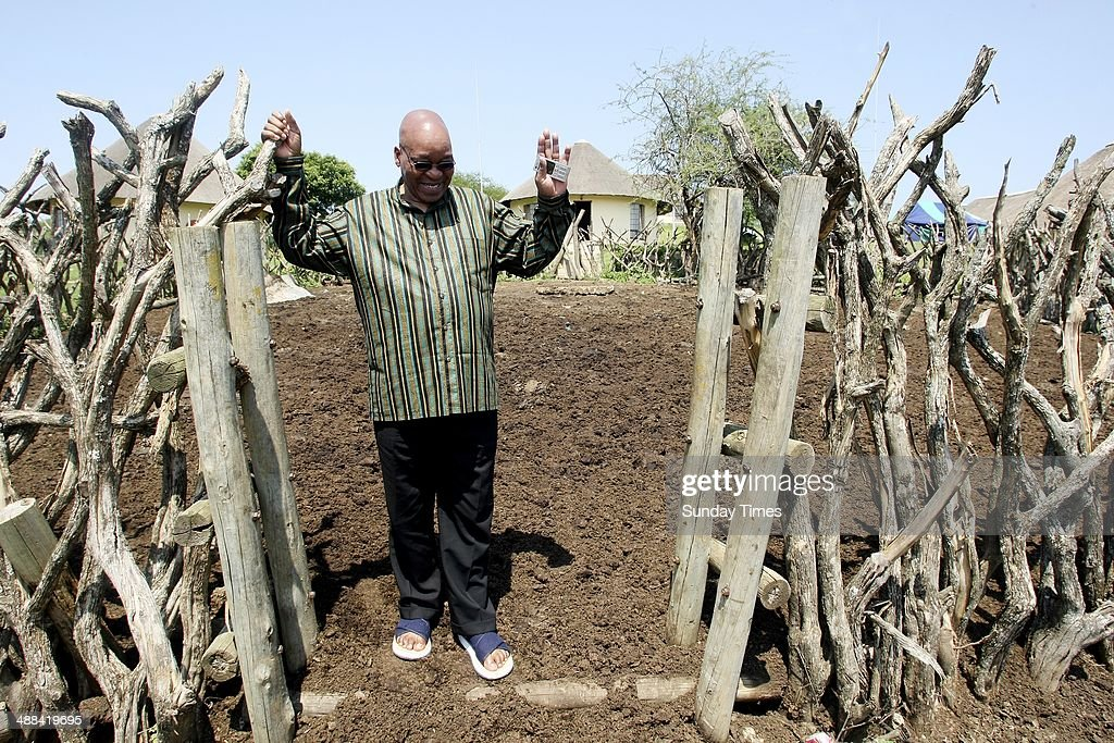 Deputy President Jacob Zuma at his homestead in Nkandla on December 13 2007 in Limpopo South Africa
