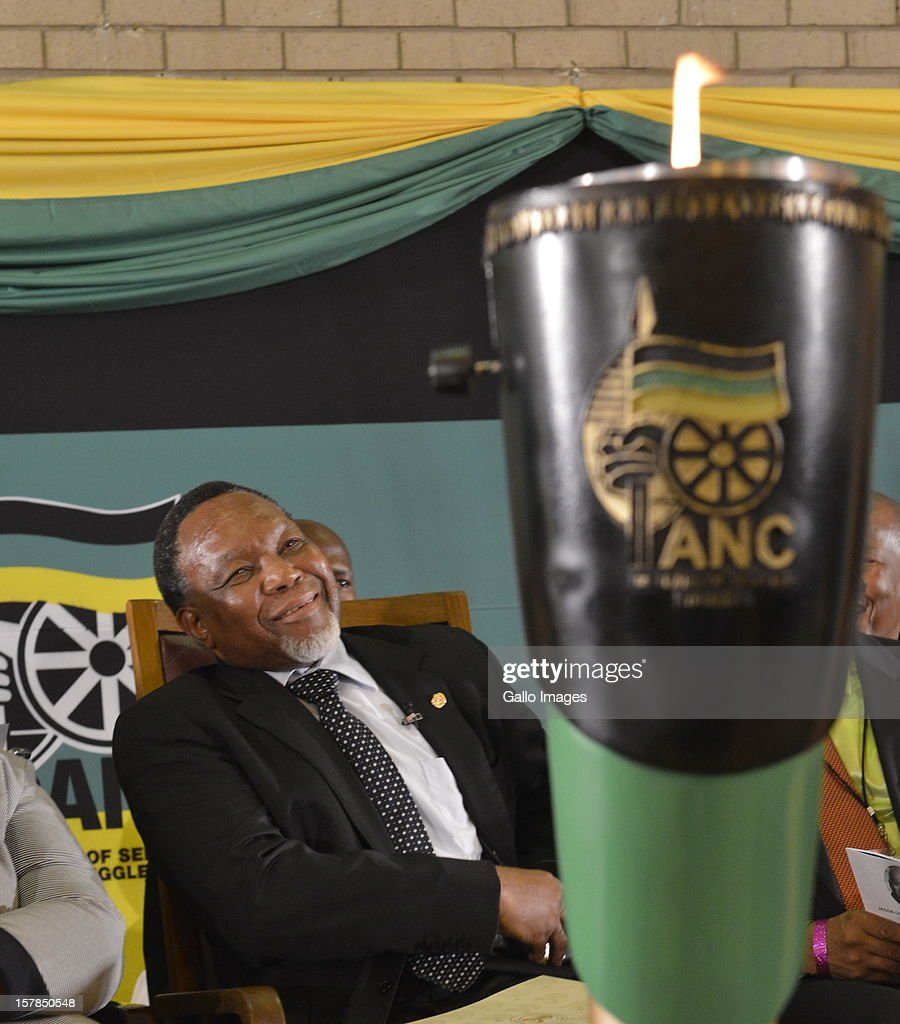 Deputy President, Kgalema Motlanthe at the Jacob Zuma Centennial lecture on December 6, 2012 in Potchefstroom, South Africa. The lecture is part of the ANC's centenary celebrations honouring the party's presidents, and is the last before their elective conference in Mangaung.