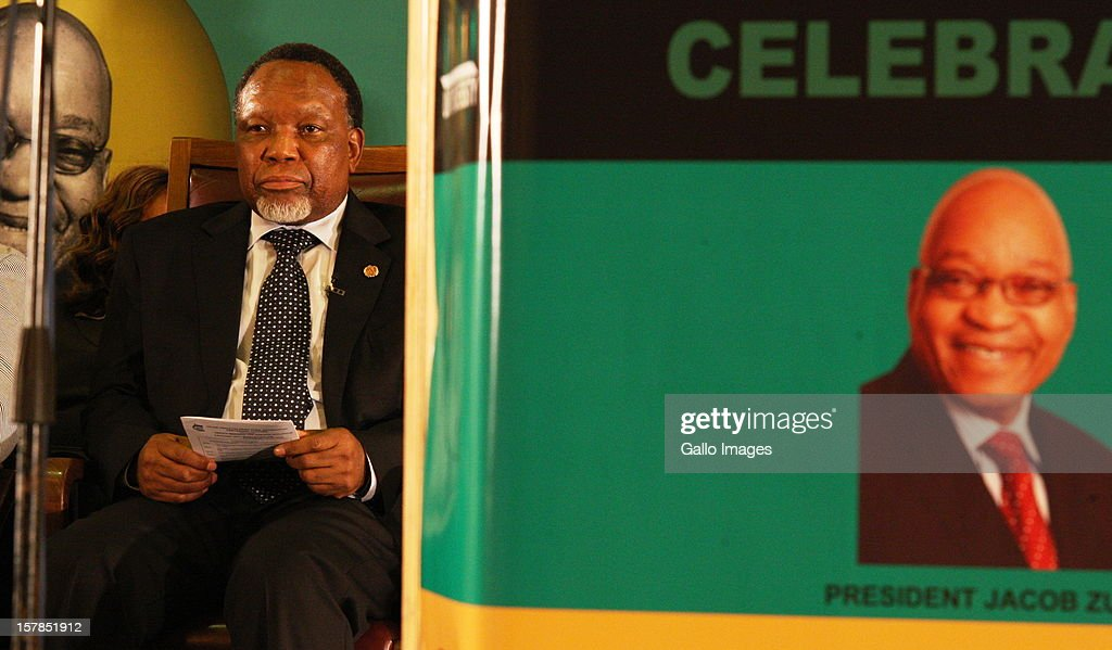 Deputy President Kgalema Motlanthe at the Jacob Zuma Centennial lecture on December 6, 2012 in Potchefstroom, South Africa. The lecture is part of the ANC's centenary celebrations honouring the party's presidents, and is the last before their elective conference in Mangaung.
