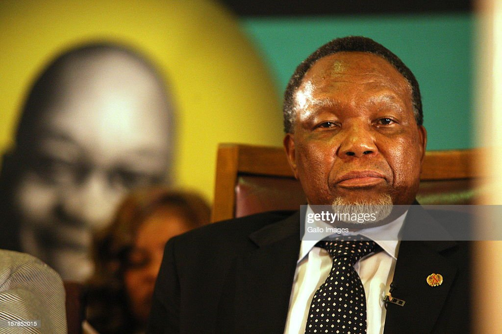 Deputy President Kgalema Motlanthe delivers at the Jacob Zuma Centennial lecture on December 6, 2012 in Potchefstroom, South Africa. The lecture is part of the ANC's centenary celebrations honouring the party's presidents, and is the last before their elective conference in Mangaung.