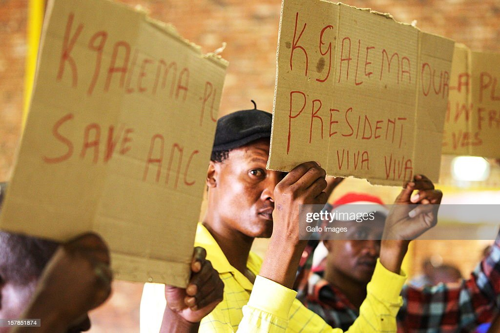 Deputy President Kgalema Motlanthe supporters at the Jacob Zuma Centennial lecture on December 6, 2012 in Potchefstroom, South Africa. The lecture is part of the ANC's centenary celebrations honouring the party's presidents, and is the last before their elective conference in Mangaung.