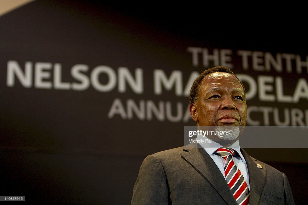 Deputy President of South Africa Kgalema Motlanthe attends the 10th Nelson Mandela Annual Lecture on August 5, 2012 in Cape Town, South Africa. The tenth Nelson Mandela annual lecture will have a theme of Freedom, Truth, Democracy: Citizenship and Common Purpose, coinciding with the 50th Anniversary since his arrest and the centenary of the ANC's founding. The lecture bares international significance as the venue where Mandela delivered his iconic first speech after his release from prison in 1990.