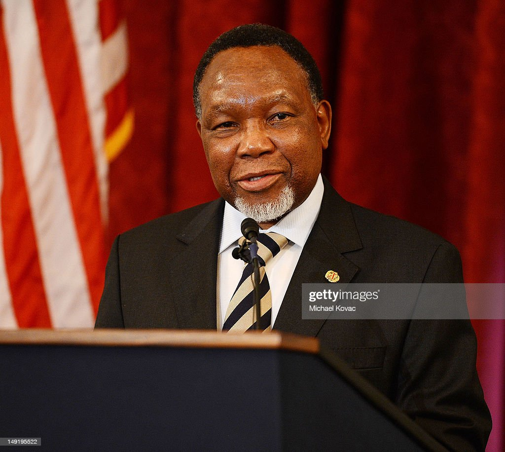 Deputy President of the Republic of South Africa Kgalema Motlanthe speaks at The Elton John AIDS Foundation and UNAIDS breakfast at the Russell Senate Office Building on July 24, 2012 in Washington, DC.