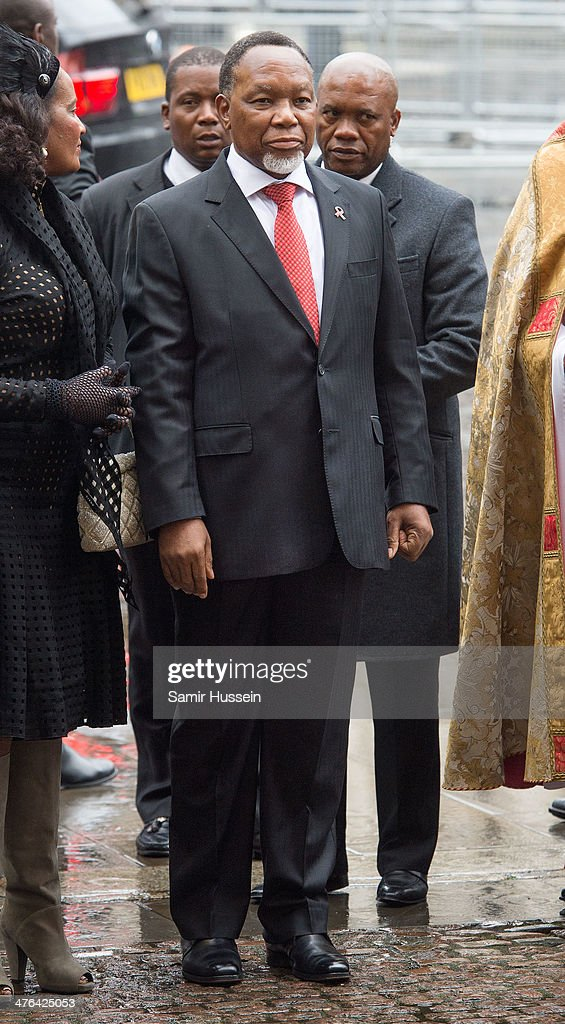 Deputy President of the Republic of South Africa, Kgalema Motlanthe attends national service to celebrate the life of Nelson Mandela at Westminster Abbey on March 3, 2014 in London, England.