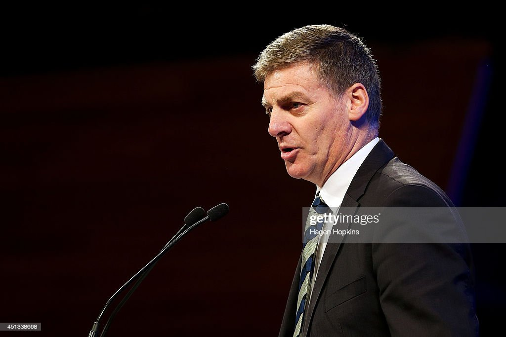 Deputy Prime Minister and Finance Minister Bill English speaks during the National Party Annual Conference at Michael Fowler Centre on June 28 2014...