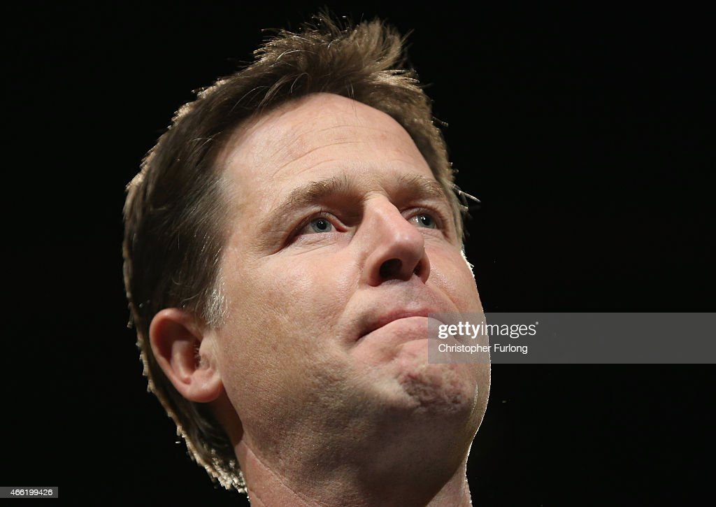Deputy prime minister and Leader of the Liberal Democrats Nick Clegg takes part in a question and answer session with delegates during party's spring conference at the ACC on March 14, 2015 in Liverpool, England. Deputy Prime Minister Nick Clegg confirmed today that Mental health services in England will receive £1.25bn in next week's Budget.