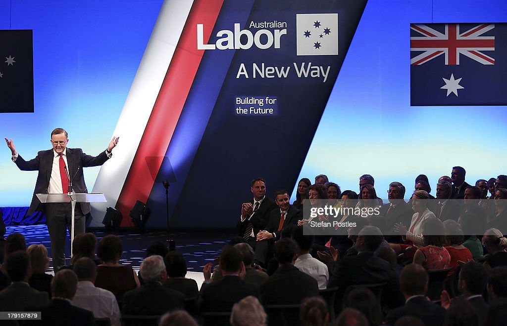 Deputy Prime Minister Anthony Albanese speaks during the Labor Party campaign launch at the Brisbane Convention and Exhibition Centre on September 1, 2013 in Brisbane, Australia. The incumbent centre-left Australian Labor Party has trailed the conservative Liberal-National Party coalition for the first four weeks of the campaign, and most pollsters give them little hope of retaining government. Australians head to the polls this Saturday, September 7.