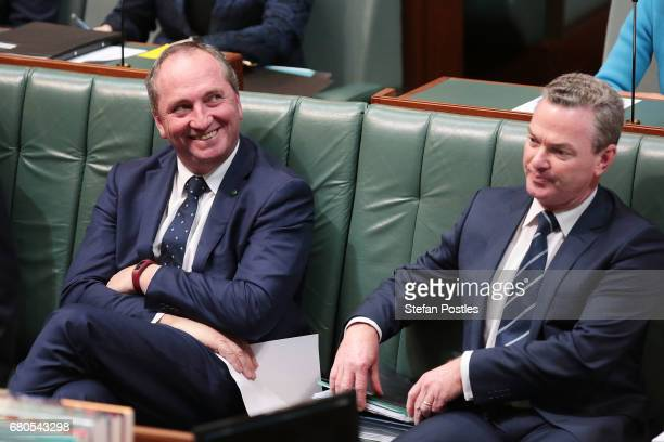 Deputy Prime Minister Barnaby Joyce during question time in the House of Representatives at Parliament House on May 9 2017 in Canberra Australia The...