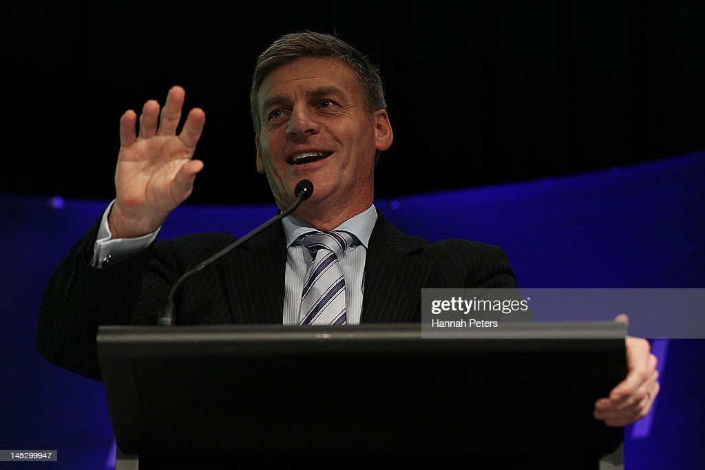 Deputy Prime Minister Bill English speaks during the National Party 2012 Northern Convention at the Waipuna Hotel on May 26 2012 in Auckland New...