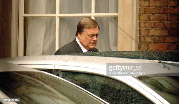 Deputy Prime Minister John Prescott leaves his London home after his office confirmed that Westminster's sleaze watchdog had launched a preliminary...