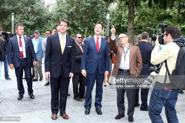 Deputy Prime Minister Nick Clegg during a visit to the World Trade Center 9/11 Memorial and the new 1 World Trade Center building Lower Manhattan