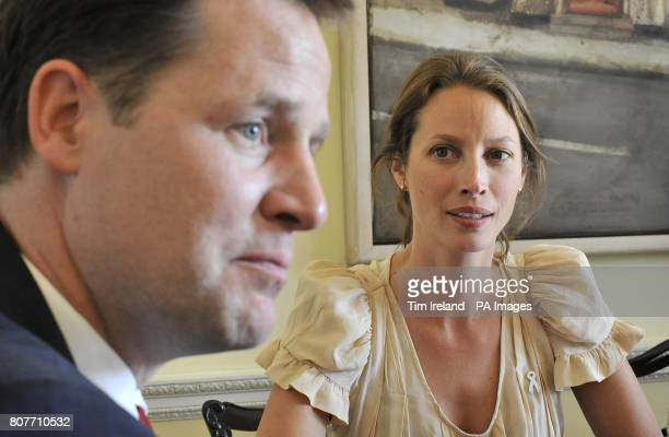 Deputy Prime Minister Nick Clegg meets with Christy Turlington in the Cabinet Office London to speak about maternal health ahead of the G8 summit