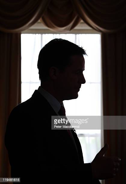 Deputy Prime Minister Nick Clegg speaks to reporters at Admiralty House on July 20 2011 in London England Clegg commented on the phone hacking...