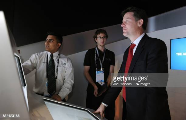 Deputy Prime Minister Nick Clegg with apprentices from Jaguar Land Rover during The Skills Show at the NEC Birmingham Clegg took questions from more...