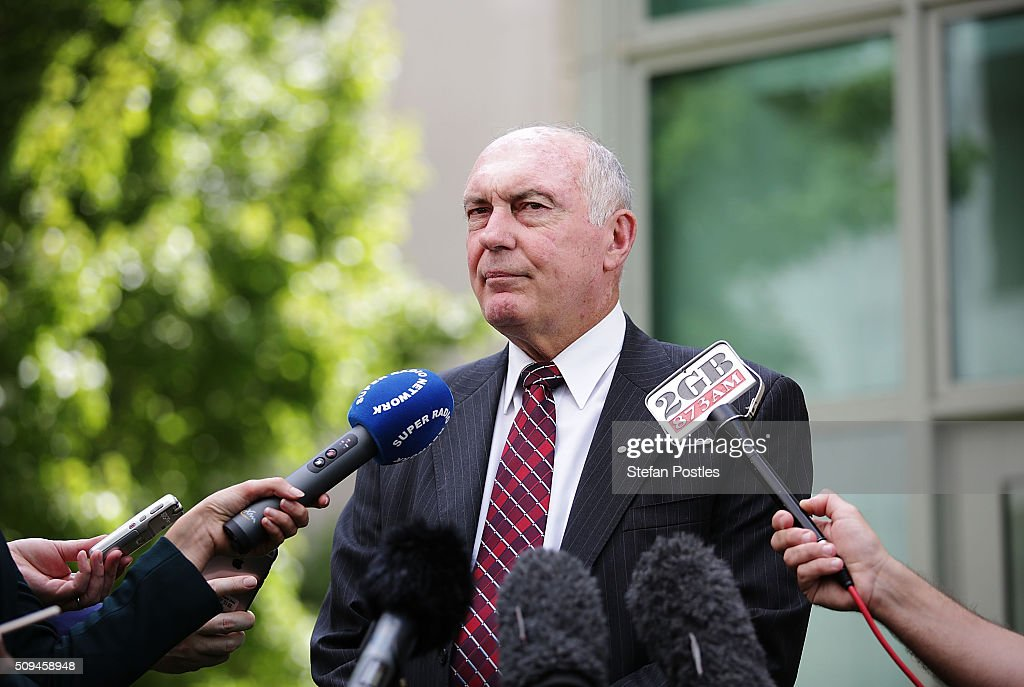 Deputy Prime Minister Warren Truss speaks to the media about his retirement on February 11, 2016 in Canberra, Australia. Nationals Leader and Deputy Prime Minister Warren Truss and Trade Minister Andrew Robb will retire at the next election.