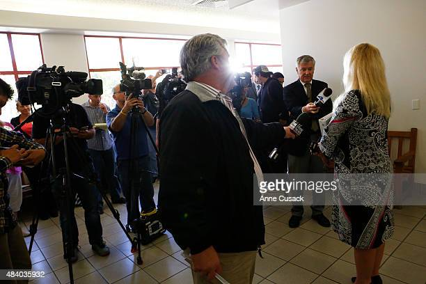 Deputy Public Defender Lori Pedego speaks after court proceedings as man in the US illegally Victor Martinez Ramirez and another man Jose Fernandez...