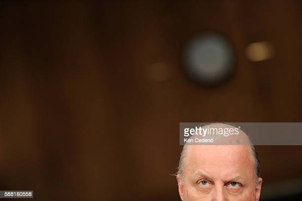 Deputy Secretary of State John Negroponte testifies during a hearing before the Senate Foreign Relations Committee's East Asian and Pacific Affairs...