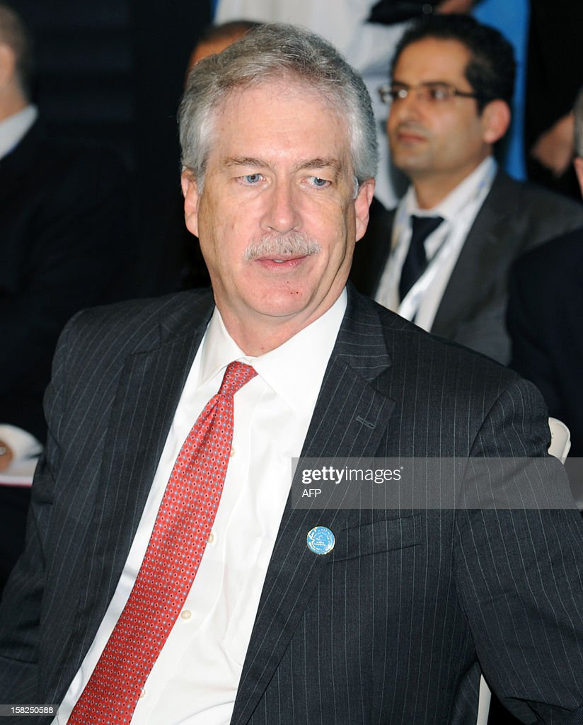 US Deputy Secretary of State William Burns attends a conference of the Friends of Syria group meeting of Arab and Western states in Marrakesh on December 12, 2012. Countries opposed to President Bashar al-Assad's regime met in Morocco for talks on Syria's 21-month conflict after the US gave official backing to a new opposition bloc.