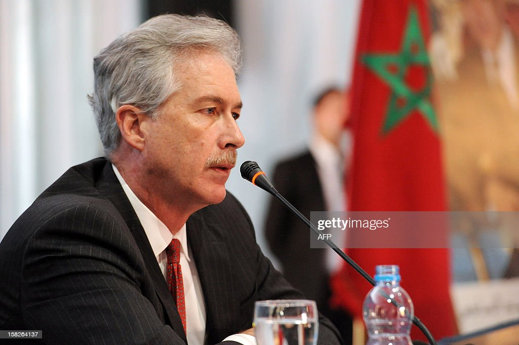 US Deputy Secretary of State William Burns speaks during a conference of the Friends of Syria group meeting of Arab and Western states in Marrakesh on December 12, 2012. Countries opposed to President Bashar al-Assad's regime met in Morocco for talks on Syria's 21-month conflict after the US gave official backing to a new opposition bloc. AFP PHOTO/FADEL SENNA