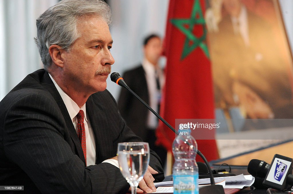 US Deputy Secretary of State William Burns speaks during a conference of the Friends of Syria group meeting of Arab and Western states in Marrakesh on December 12, 2012. Countries opposed to President Bashar al-Assad's regime met in Morocco for talks on Syria's 21-month conflict after the US gave official backing to a new opposition bloc.