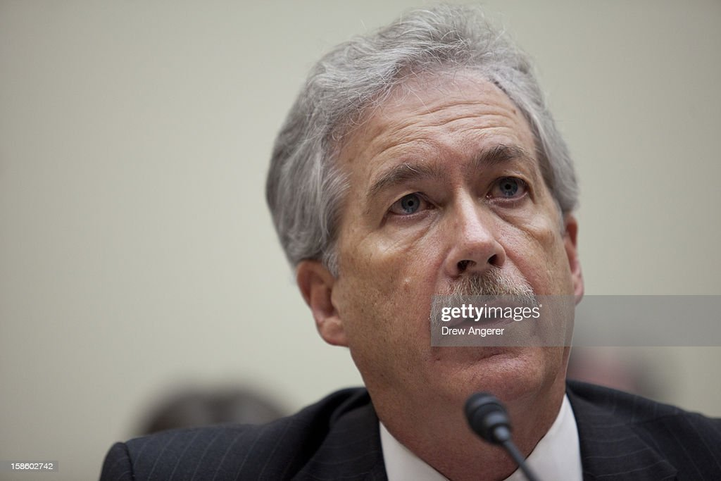 Deputy Secretary of State William Burns testifies during the House Foreign Affairs Committee on the September 11th attack in Benghazi against the U.S. consulate, on Capitol Hill, December 20, 2012 in Washington, DC. Secretary of State Hillary Clinton was scheduled to testify, but was unable to attend due to an illness.