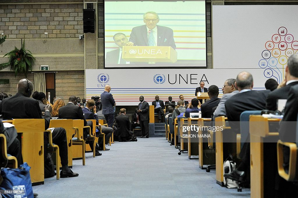 Deputy Secretary-General of the United Nations Jan Eliasson speaks during the United Nation Environment Assembly (UNEA) on May 26, 2016 in Nairobi. The Assembly which represents the worlds highest-level of decision-making body on the environment will culminate in resolutions and a global call to action to address the critical environmental challenges facing the world today. / AFP / SIMON