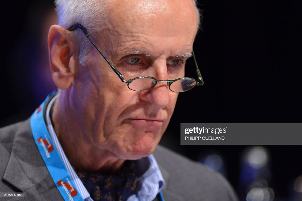 AFD deputy spokesperson Albrecht Glaser attends a party congress of the German right wing party AfD (Alternative fuer Deutschland) at the Stuttgart Congress Centre ICS on April 30, 2016 in Stuttgart, southern Germany. The Alternative for Germany (AfD) party is meeting in the western city of Stuttgart, where it is expected to adopt an anti-Islamic manifesto, emboldened by the rise of European anti-migrant groups like Austria's Freedom Party. / AFP / Philipp GUELLAND