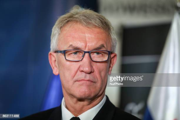 Deputy Supreme Allied Commander Transformation Admiral Manfred Nielson during a press press conference for the opening of NATO Counter Intelligence...