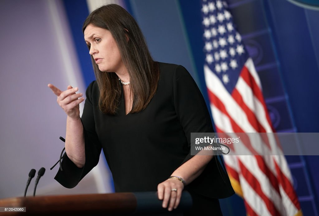 Sarah Huckabee Sanders Holds Daily Press Briefing At The White House