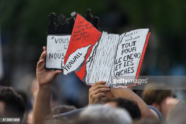 Deputys of quot la France Insoumise quot lead by JeanLuc Melenchon organised an assembly in Republique's place in Paris to protest against the labor...