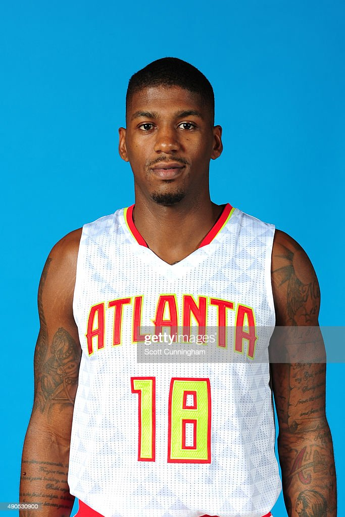 <a gi-track='captionPersonalityLinkClicked' href=/galleries/search?phrase=DeQuan+Jones&family=editorial&specificpeople=5626127 ng-click='$event.stopPropagation()'>DeQuan Jones</a> #18 of the Atlanta Hawks poses for a photo during media day on September 28, 2015 at Philips Arena in Atlanta, Georgia.