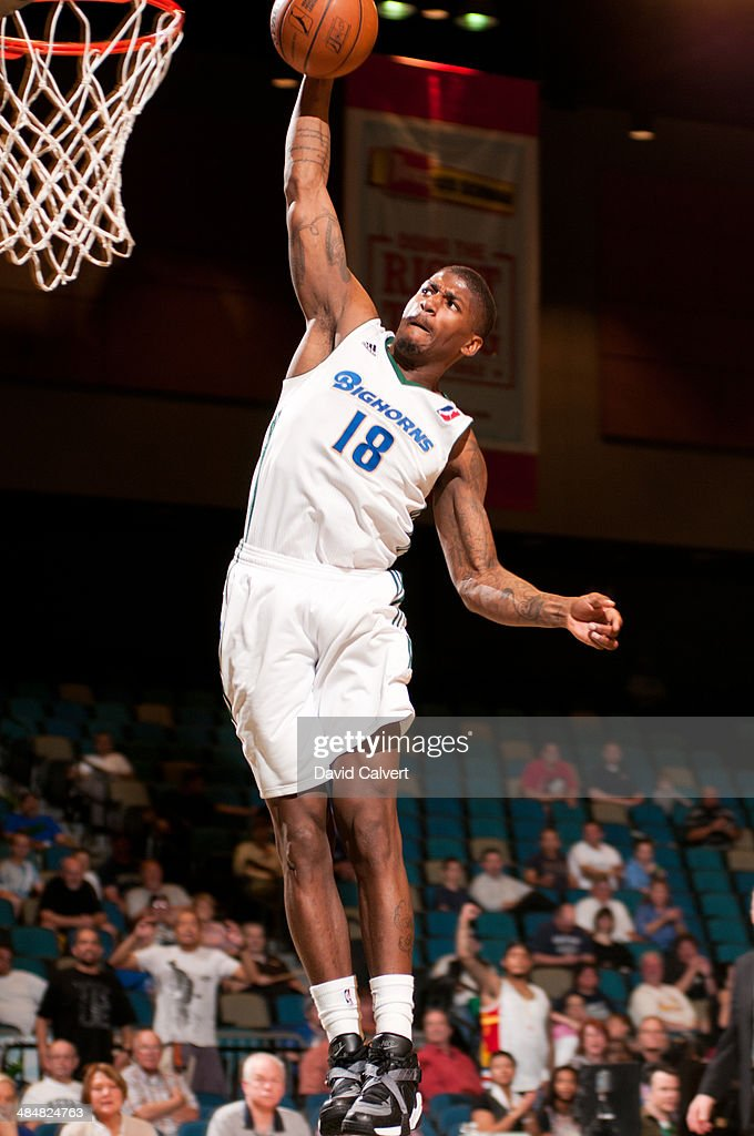 <a gi-track='captionPersonalityLinkClicked' href=/galleries/search?phrase=DeQuan+Jones&family=editorial&specificpeople=5626127 ng-click='$event.stopPropagation()'>DeQuan Jones</a> #18 of the Reno Bighorns dunks against the Fort Wayne Mad Ants on April 11, 2014 at the Reno Events Center in Reno, Nevada.