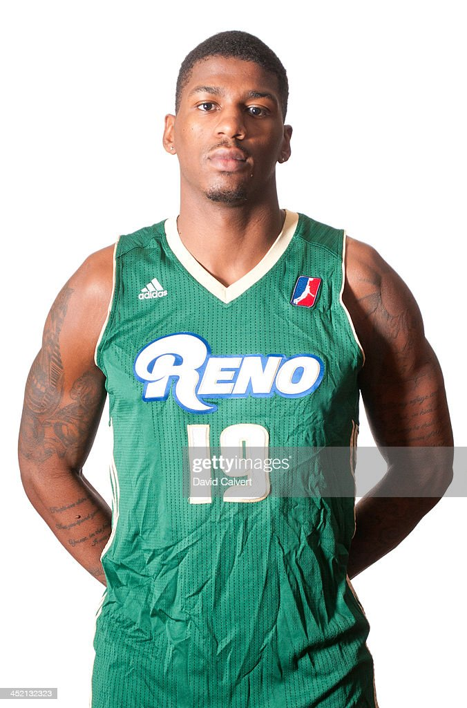 Dequan Jones #19 of the Reno Bighorns poses for a photo during media day at the Reno Events Center on November 17, 2013 in Reno, Nevada.