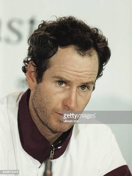 Der amerikanische Tennisspieler John McEnroe Aufgenommen September 1993