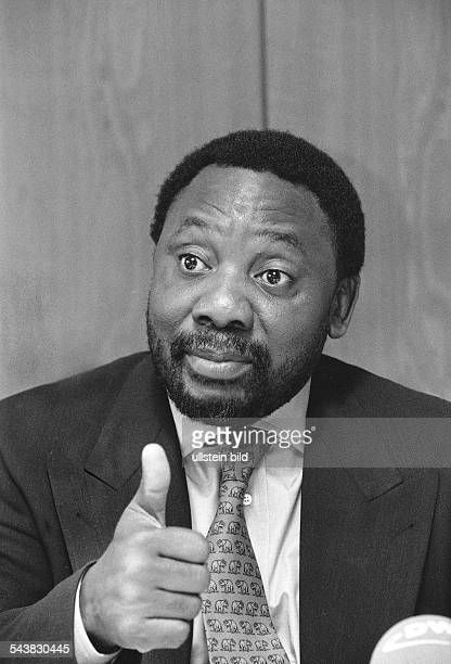 Der frühere südafrikanische Gewerkschaftsfunktionär ANCGeneralsekretär und jetzige Wirtschaftsführer Südafrikas Cyril Ramaphosa hält während einer...