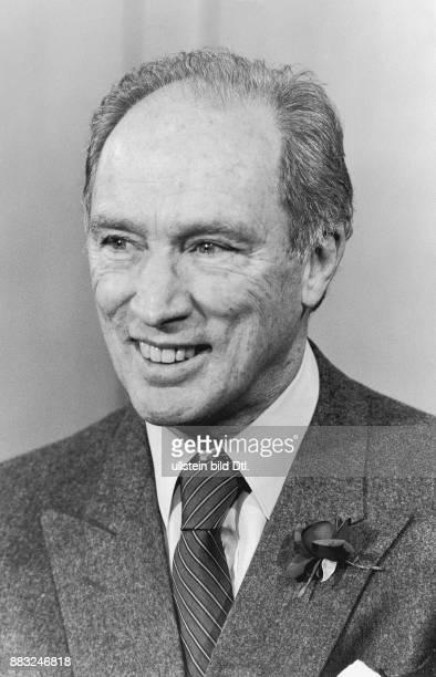 Der kanadische Ministerpräsident Pierre Trudeau Aufgenommen um 1983