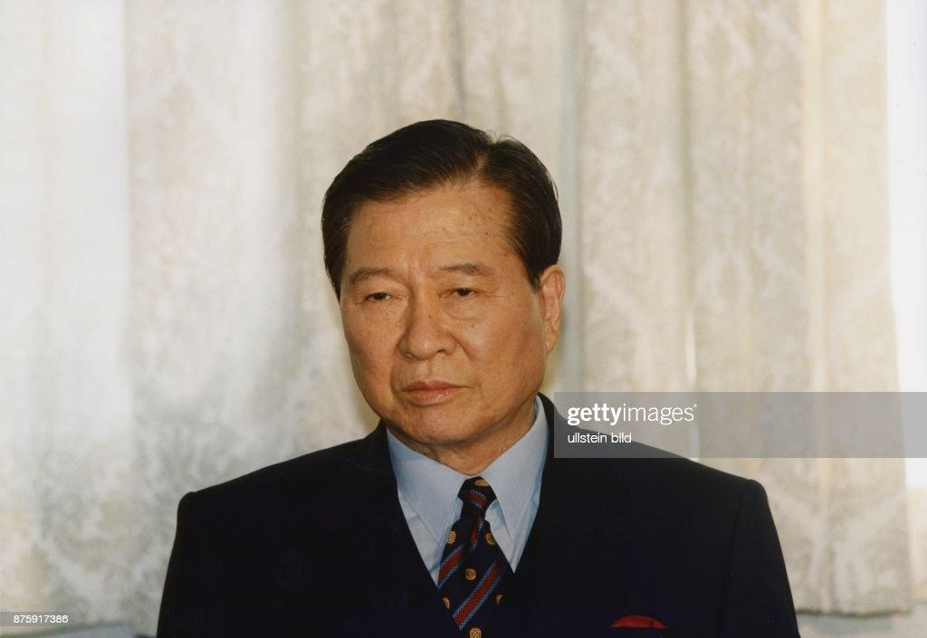 Der Präsident von Südkorea Kim Dae Jung. Aufgenommen 1998.