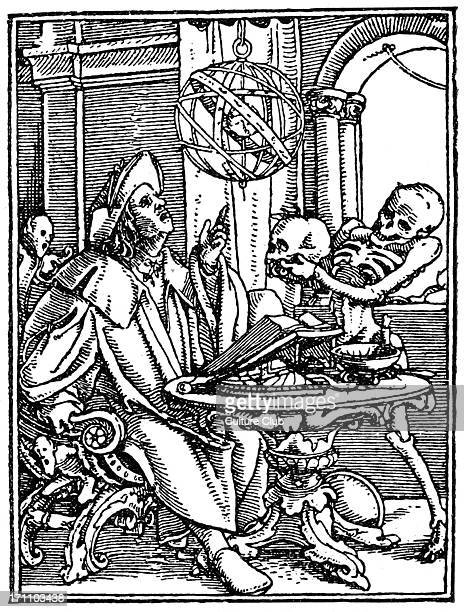 Der Totentanz latemedieval allegory showing personified death Woodcut / engraving by Hans Holbein the Younger German artist c 1497 29 November 1543...