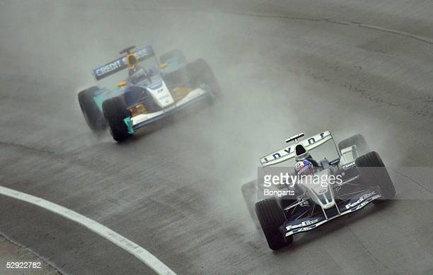GP der USA 2003 Indianapolis Juan Pablo MONTOYA/COL BMW Williams HeinzHarald FRENTZEN/GER Bar Honda