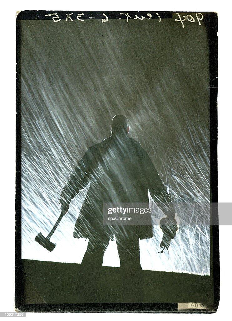 Deranged Winters Night : Stock Photo