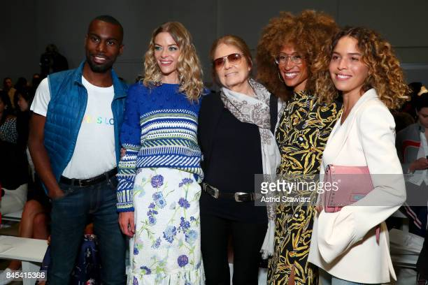 DeRay Mckesson Jaime King Gloria Steinem Elaine Welteroth and Cleo Wade attend Prabal Gurung fashion show during New York Fashion Week The Shows at...