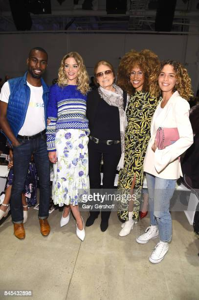 DeRay Mckesson Jaime King Gloria Steinem Elaine Welteroth and Cleo Wade attend the Prabal Gurung fashion show during New York Fashion Week at Gallery...