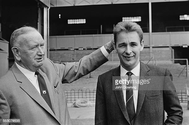 Derby County FC chairman Sam Longson with club manager Brian Clough 1967