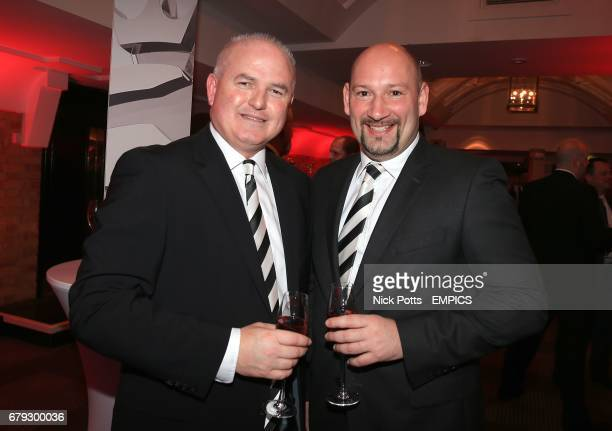 Derby County Head of Football operations Chris Evans and Chief Executive Sam Rush at the Football League Awards 2014