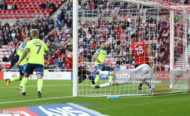 Derby County's Bradley Johnson scores his side's first goal of the game during the Sky Bet Championship match at the Stadium of Light