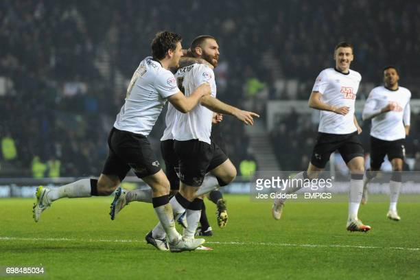 Derby County's Jake Buxton celebrates his goal